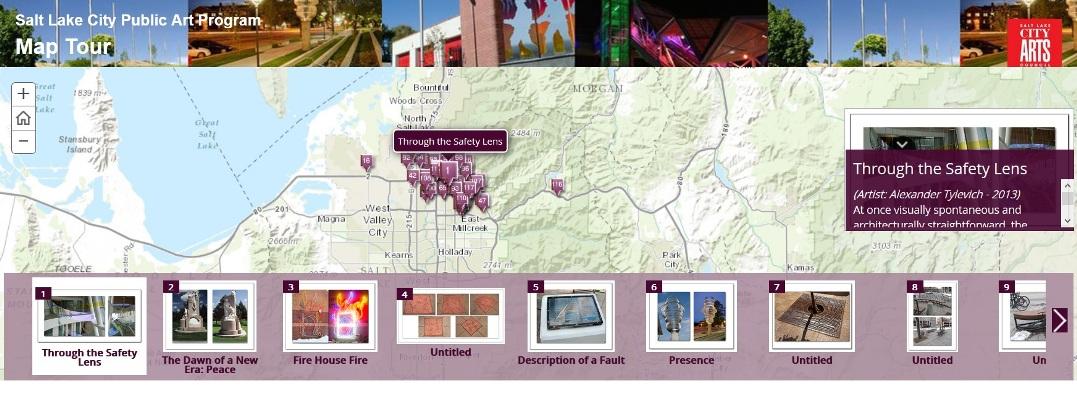 Salt Lake City Maps Public Art Map Tour